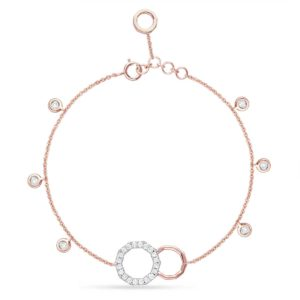 18K ROSE  GOLD WITH DIAMOND ANKLET