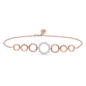 18K ROSE GOLD WITH DIAMOND BRACELET