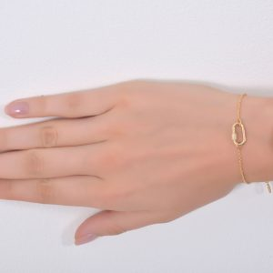 18K YELLOW GOLD WITH DIAMOND BRACELET