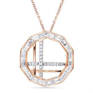 18K ROSE GOLD WITH DIAMOND NECKLACE