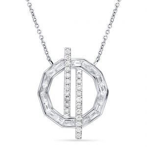 18K WHITE GOLD WITH DIAMOND NECKLACE