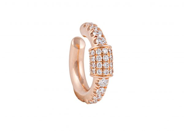 18K ROSE GOLD WITH DIA EARRING