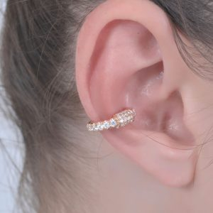 18K ROSE GOLD WITH DIAMOND EAR CUFF