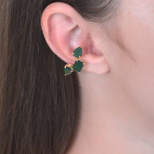 18K YELLOW GOLD WITH EMERALD EAR CUFF