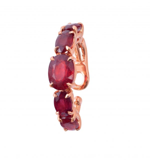 18K ROSE GOLD WITH RUBY EAR CUFF
