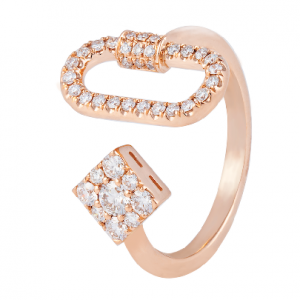 18K ROSE GOLD WITH DIA RING