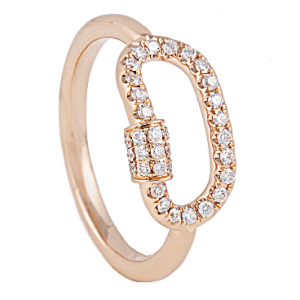 18K ROSE GOLD WITH DIAMOND RING